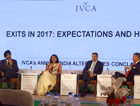 Nithya speaking at the Annual IVCA event