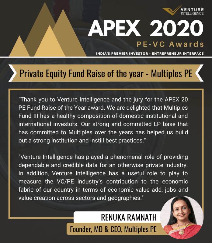 Private Equity Fund Raise of the Year award - Multiples PE